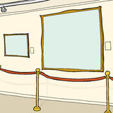 Blank Picture Frames in Museum Royalty Free Stock Photos