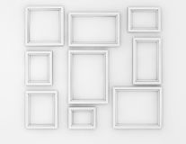 Blank Picture Frames set Royalty Free Stock Photo