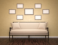Blank picture frames Stock Image