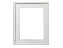 Blank picture white frame template isolated on wall Royalty Free Stock Photography