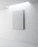 Blank picture on a white wall. 3d. Royalty Free Stock Photo