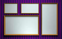 Blank pictures. Framed blank pictures hanging on a wall Royalty Free Stock Photography