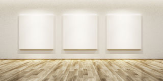 Blank pictures in the gallery Stock Images