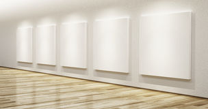 Blank pictures in the gallery Stock Image