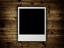 Blank pictures on planks Royalty Free Stock Photography