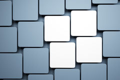 Blank pictures on the wall Royalty Free Stock Images