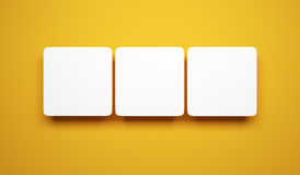 Blank pictures on the wall Royalty Free Stock Image