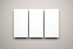 Blank pictures on the wall Royalty Free Stock Photos