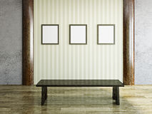 Blank pictures on the wall Stock Image