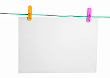 Blank Piece Of Paper Stock Image