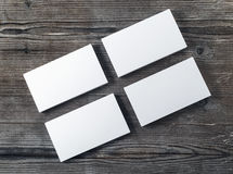 Blank piles of business cards Stock Image