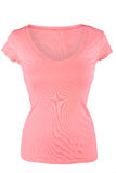 Blank pink female t-shirt Stock Photo