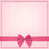 Blank pink greeting card template. Royalty Free Stock Photography