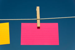 Blank Pink index card Stock Image