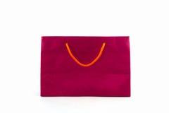 Blank pink paper shopping bag. Royalty Free Stock Photo