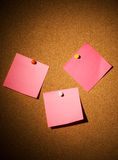 Blank pink papers Stock Photo