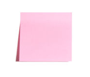 Blank Pink Postit Note Stock Photo