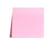 Blank Pink Postit Note Stock Photo
