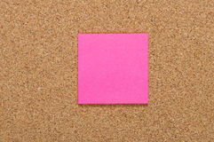 Blank pink sticker Stock Image