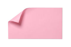Blank pink sticky note Royalty Free Stock Photography