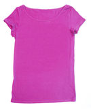 Blank pink tee-shirt Stock Photos