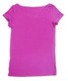 Blank pink tee-shirt. Blank pink t-shirt tee-shirt shirt customizable with logos or designs Stock Photos