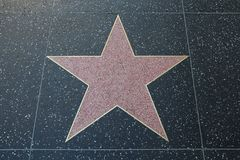 Blank Pink Terrazzo and Brass Star Along the Hollywood Walk of Fame royalty free stock images