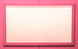 Blank pink tv screen. Stock Photography