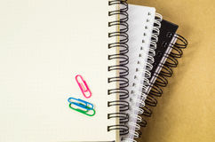 Blank piral notebooks. Royalty Free Stock Images