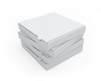 Blank Pizza Boxes Stock Photo