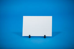 Blank placard placed on a stand Royalty Free Stock Photography