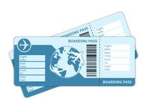 Blank Plane Tickets Royalty Free Stock Photography