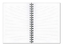 Blank planner book. Over white background Royalty Free Stock Images