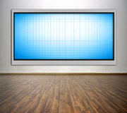 Blank plasma tv Royalty Free Stock Photography