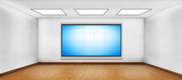Blank plasma tv Royalty Free Stock Images