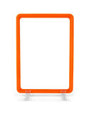 Blank plastic advertisement stand  on white Royalty Free Stock Photography