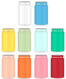 Blank Plastic Bottle Set For Packaging Stock Image