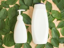 Organic accessoiries and care for hair and body. stock images