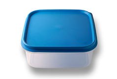 Blank plastic container w/clipping path Stock Photography