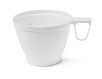 Blank plastic cup Stock Photo