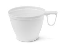 Blank plastic cup Stock Photo