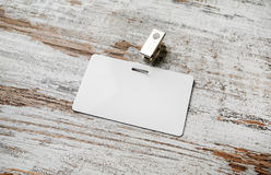 Blank plastic id card Stock Images