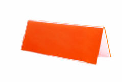 Blank plastic plate Royalty Free Stock Photo