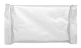 Blank plastic pouch food packaging on white Stock Photos