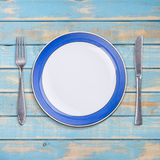 Blank plate Stock Images