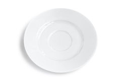 Blank plate isolated. One blank white plate isolated Royalty Free Stock Photos