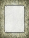Blank plate on rough wall Stock Photos