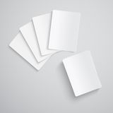 Blank playing cards Royalty Free Stock Photo