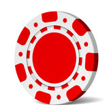 Blank poker chip Royalty Free Stock Images