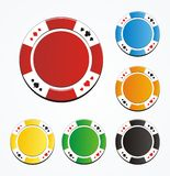 Blank poker chips vector Royalty Free Stock Photo